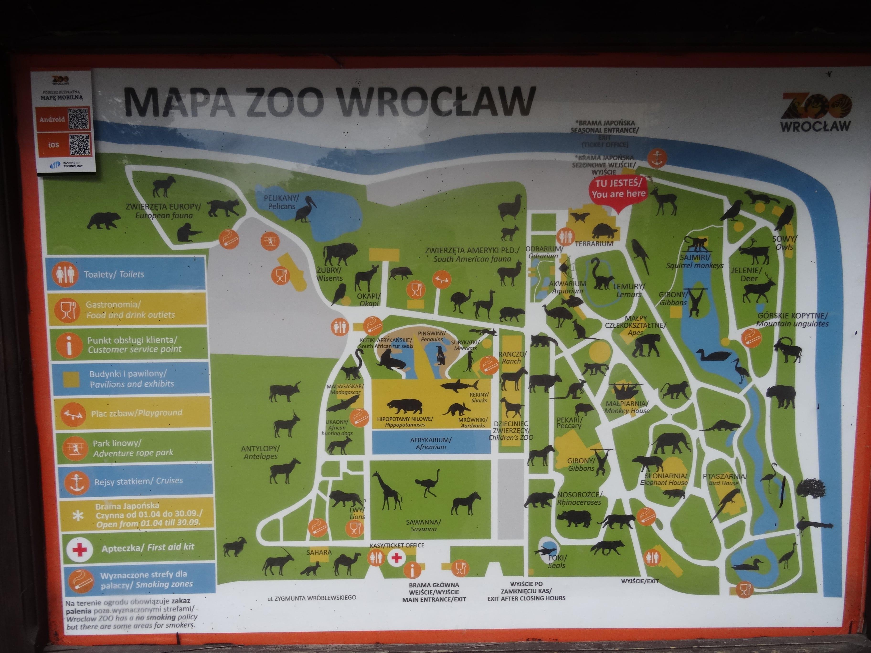 Zoo Wroclaw Mapa Matka W Miescie